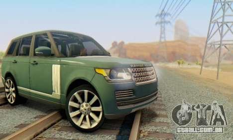 Range Rover Vogue 2014 V1.0 Interior Nero para GTA San Andreas