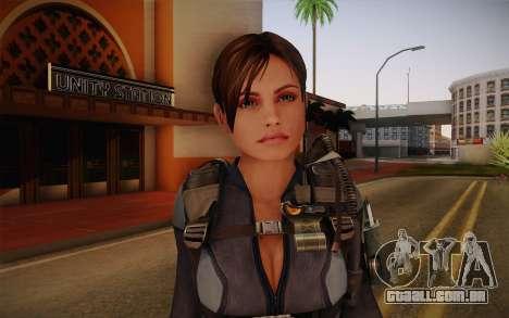 Jill Valentine from Resident Evil: Revelations para GTA San Andreas terceira tela
