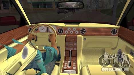 Bentley Arnage T 2005 para GTA Vice City vista direita