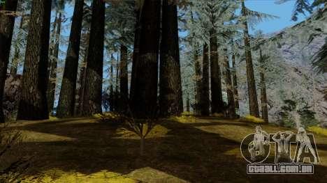 A densa floresta v2 para GTA San Andreas sexta tela