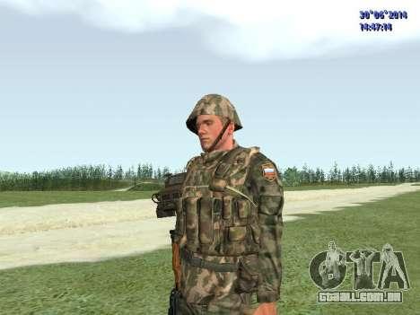 O lutador do exército russo para GTA San Andreas terceira tela