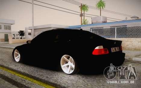 BMW 318 Ci 34 UNL 58 para GTA San Andreas esquerda vista