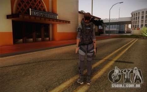 Jill Valentine from Resident Evil: Revelations para GTA San Andreas segunda tela