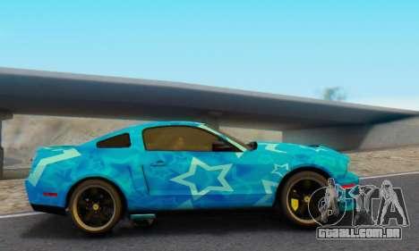 Ford Mustang Shelby Blue Star Terlingua para GTA San Andreas esquerda vista