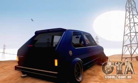 Volkswagen Golf Mk I Punk para GTA San Andreas vista traseira