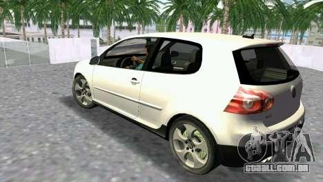 Volkswagen Golf V GTI para GTA Vice City deixou vista