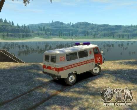 UAZ 39629 Ambulância para GTA 4 esquerda vista