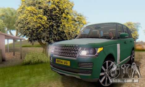 Range Rover Vogue 2014 V1.0 UK Plate para GTA San Andreas vista interior