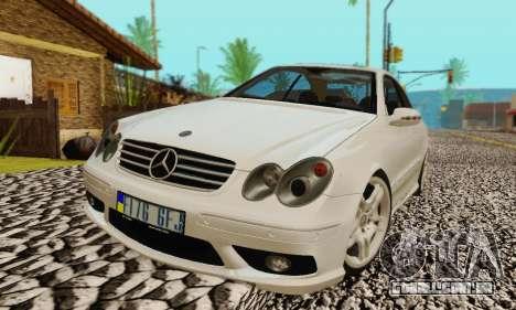 Mercedes-Benz CLK55 AMG 2003 para o motor de GTA San Andreas