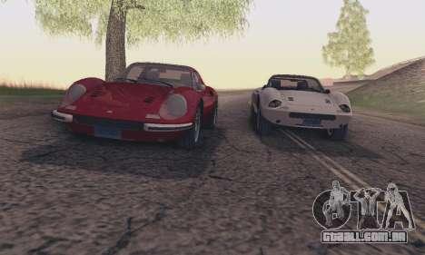 Ferrari Dino 246 GTS Coupe para GTA San Andreas vista inferior