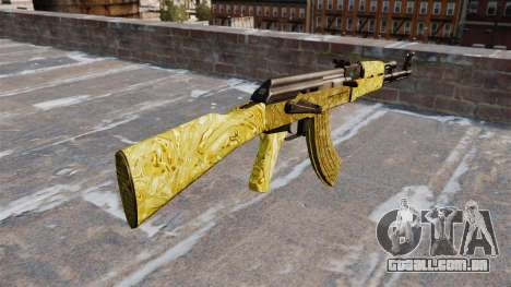 A AK-47 Gold para GTA 4 segundo screenshot