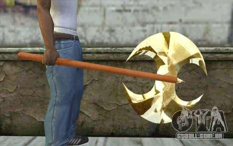 Machado de ouro para GTA San Andreas terceira tela