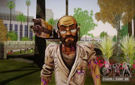 Professor Nakayama 2 из Borderlands para GTA San Andreas terceira tela