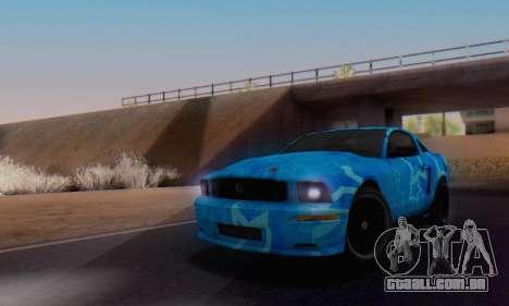 Ford Mustang Shelby Blue Star Terlingua para GTA San Andreas vista direita