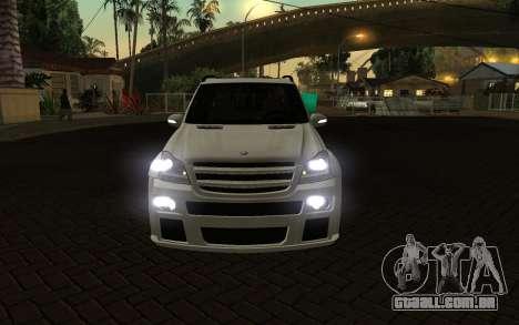 Mercrdes-Benz GL500 para GTA San Andreas vista traseira