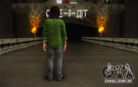 Sam Winchester из Sobrenatural para GTA San Andreas segunda tela