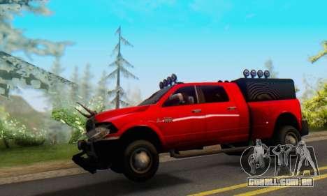 Dodge Ram 3500 Super Reforzada para GTA San Andreas esquerda vista