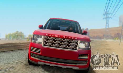 Range Rover Vogue 2014 V1.0 Interior Nero para GTA San Andreas esquerda vista
