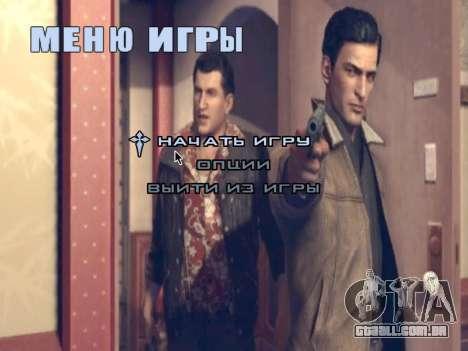 Tela de inicialização do Mafia II para GTA San Andreas sexta tela
