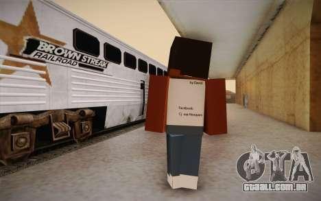 Cj Minecraft para GTA San Andreas segunda tela