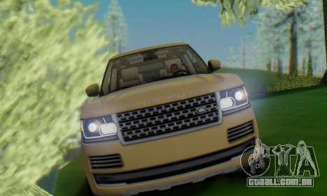 Range Rover Vogue 2014 V1.0 SA Plate para GTA San Andreas vista direita