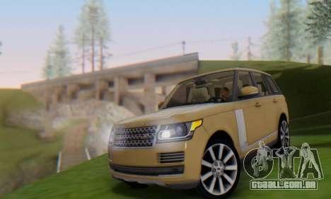 Range Rover Vogue 2014 V1.0 SA Plate para GTA San Andreas