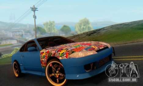 Nissan Silvia S15 Metal Style para GTA San Andreas vista traseira