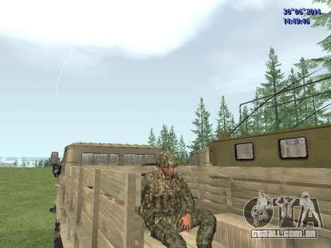 O lutador do exército russo para GTA San Andreas sexta tela