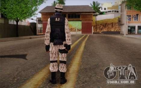 SWAT Snow Camo para GTA San Andreas segunda tela