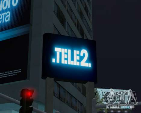 Office TELE2 para GTA San Andreas por diante tela