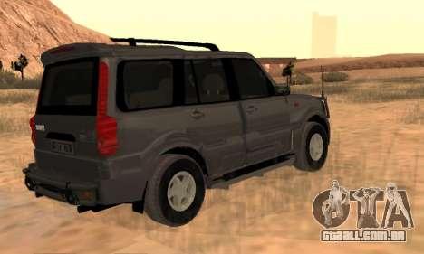 Mahindra Scorpio para GTA San Andreas vista traseira