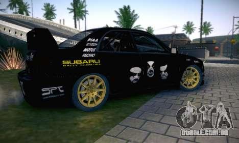 Subaru Impreza WRC STI Black Metal Rally para o motor de GTA San Andreas