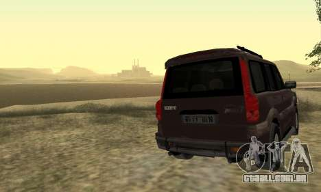 Mahindra Scorpio para GTA San Andreas vista superior