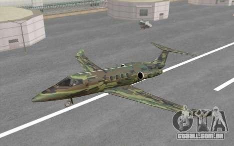 Camouflage Shamal para GTA San Andreas vista traseira