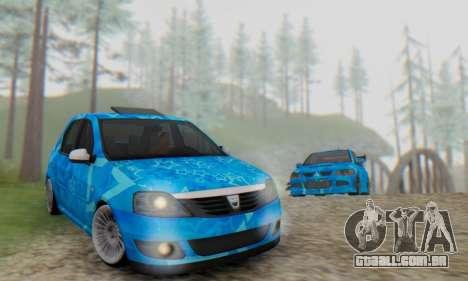 Dacia Logan Blue Star para vista lateral GTA San Andreas