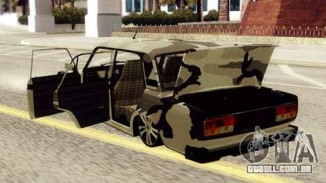 VAZ 2107 em camuflagem para GTA San Andreas vista direita