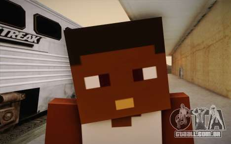 Cj Minecraft para GTA San Andreas terceira tela