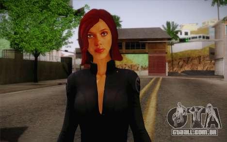 Scarlet Johansson из Vingadores para GTA San Andreas terceira tela