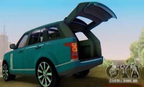 Range Rover Vogue 2014 V1.0 Interior Nero para GTA San Andreas vista direita