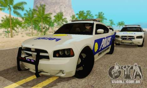 Pursuit Edition Police Dodge Charger SRT8 para GTA San Andreas vista interior