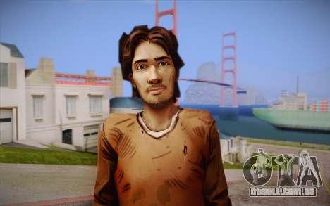 Lucas из The Walking Dead para GTA San Andreas terceira tela