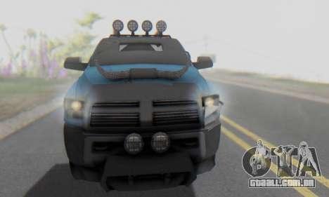Dodge Ram 3500 Super Reforzada para vista lateral GTA San Andreas