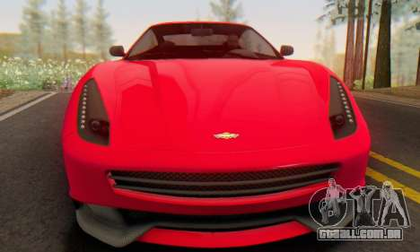 Dewbauchee Massacro 1.0 para GTA San Andreas esquerda vista