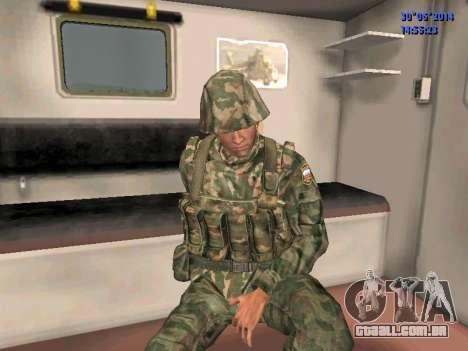 O lutador do exército russo para GTA San Andreas por diante tela