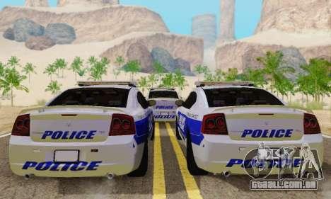 Pursuit Edition Police Dodge Charger SRT8 para GTA San Andreas vista direita