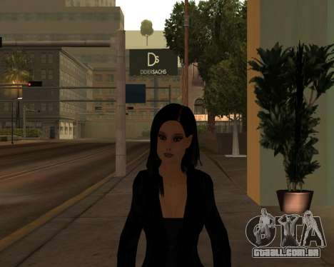 Black Dressed Girl para GTA San Andreas segunda tela