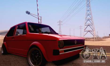 Volkswagen Golf Mk I Punk para vista lateral GTA San Andreas