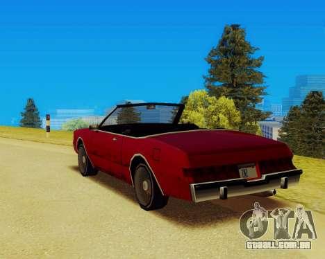 Majestic Conversível para GTA San Andreas esquerda vista