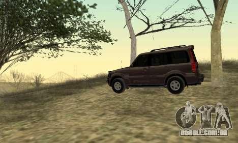 Mahindra Scorpio para GTA San Andreas vista direita