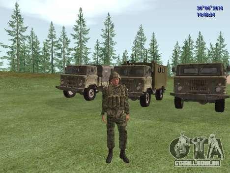 O lutador do exército russo para GTA San Andreas segunda tela